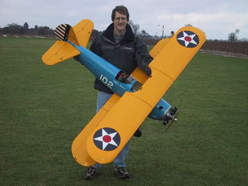 Me before the maiden flight on 3-Feb-01